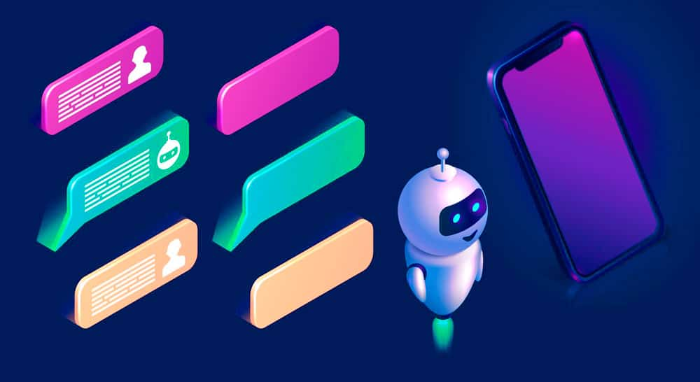 Chatbot mostra sequência de conversa com humano no canal escolhido
